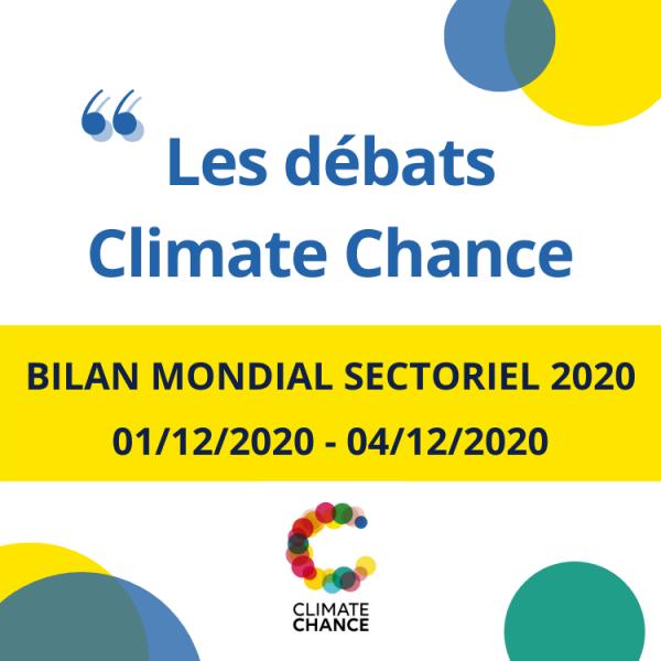 Bilan mondial de l'action climat par secteur 2020 #DébatsClimateChance